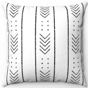 "Distressed Mudcloth Pattern #Three 16"" 18"" Or 20"" Square Throw Pillow Cover"