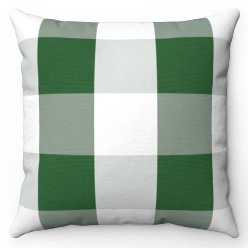 Green & White Buffalo Plaid 18