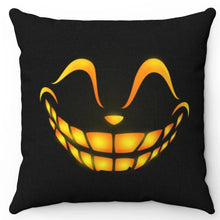 "Load image into Gallery viewer, Halloween Happy Scary Face 18"" x 18"" Throw Pillow Cover"