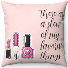 "Load image into Gallery viewer, Pink Beauty Junkie 18"" x 18"" Throw Pillow"