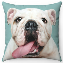 "Load image into Gallery viewer, Bulldog Puppy Tongue 16"" Or 18"" Square Throw Pillow"