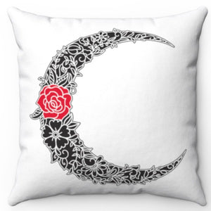 "Rose Moon 18"" x 18"" Throw Pillow Cover"