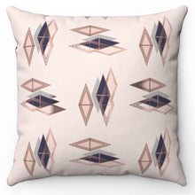 "Load image into Gallery viewer, Rose Pink Gold Diamond 20"" x 20"" Throw Pillow Cover"
