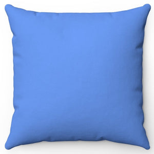 "Blue Cornflower 16"" 18"" Or 20"" Square Throw Pillow Cover"