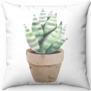 "Petite Potted Succulent Pattern #One 16"" 18"" Or 20"" Square Throw Pillow Cover"