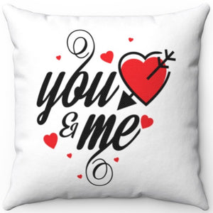 "You & Me 18"" x 18"" Square Throw Pillow"
