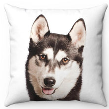 "Load image into Gallery viewer, Siberian Husky 16"" Or 18"" Square Throw Pillow"