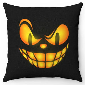 "Halloween Scary Face  18"" x 18 Throw Pillow Cover"