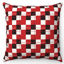 "Load image into Gallery viewer, Checkered Buffalo Pattern 18"" x 18"" Throw Pillow"