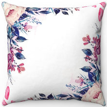 "Load image into Gallery viewer, Flower Wallpaper Watercolor 16"" 18"" Or 20"" Square Throw Pillow Cover"