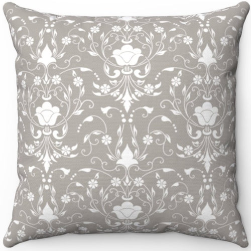 Delicate Grey & White Filigree Pattern #Four 16