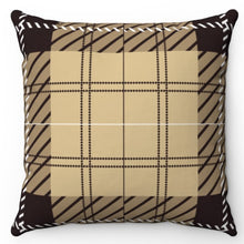 "Load image into Gallery viewer, White Stitch Buffalo Plaid 18"" x 18"" Or 20"" x 20"" Throw Pillow Cover"