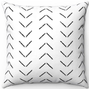 "Hand Drawn Distressed Mudcloth Pattern #Ten 16"" 18"" Or 20"" Square Throw Pillow Cover"