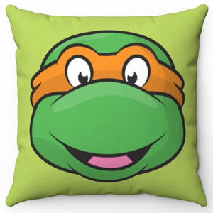 "Michelangelo Teenage Mutant Ninja Turtle 16"" x 16"" Square Throw Pillow Cover"