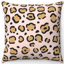 "Load image into Gallery viewer, Leopard Pastel Animal Print 16"" 18"" Or 20"" Square Throw Pillow Cover"