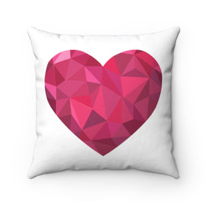 "Big Pink Heart 18"" x 18"" Throw Pillow Cover"