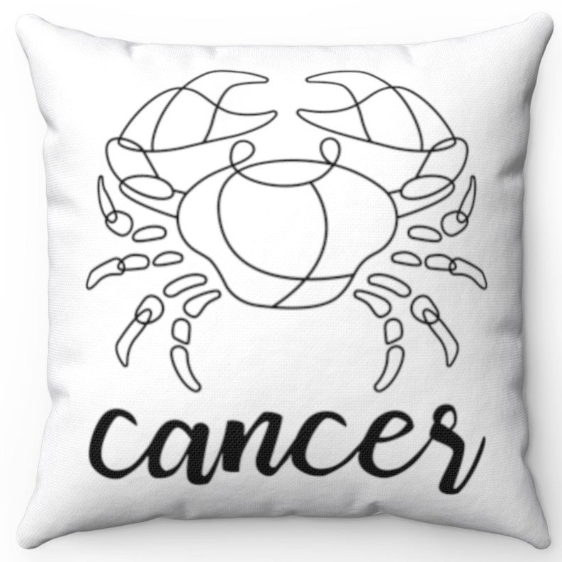 Cancer Black & White Printed Design 16