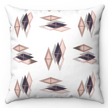 "Load image into Gallery viewer, Rose Gold Diamonds 20"" x 20"" Throw Pillow Cover"