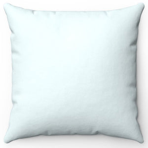 "Blue Azure Pastel 16"" 18"" Or 20"" Square Throw Pillow Cover"