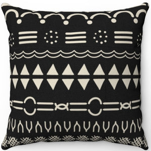 "Mudcloth Style 16"" 18"" Or 20"" Square Throw Pillow Cover"