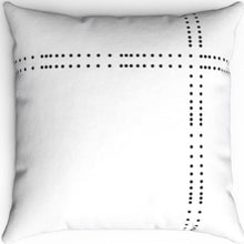 "Load image into Gallery viewer, Black & White Dot Patterned 16"" 18"" Or 20"" Square Throw Pillow Cover"