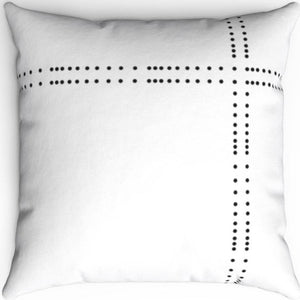 "Black & White Dot Patterned 16"" 18"" Or 20"" Square Throw Pillow Cover"