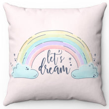 "Load image into Gallery viewer, Let's Dream In Pink 16"" x 16"" Square Throw Pillow"