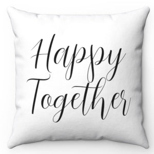 "Happy Together 18"" x 18"" Throw Pillow Cover"