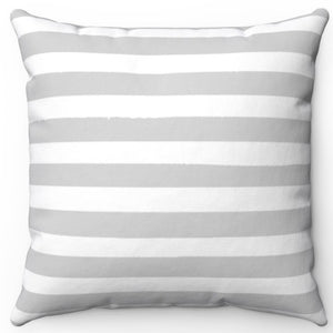 "Light Grey Texture Stripes 16"" Or 18"" Square Throw Pillow Cover"