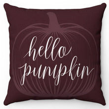 "Load image into Gallery viewer, Hello Pumpkin 18"" Or 20"" Square Throw Pillow Cover"
