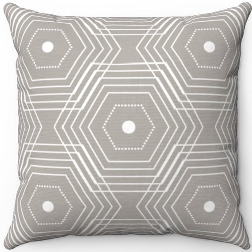 Delicate Grey & White Geometric Pattern #Six 18