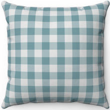 "Load image into Gallery viewer, Retro Dusty Green Plaid 16"" 18"" Or 20"" Square Throw Pillow Cover"
