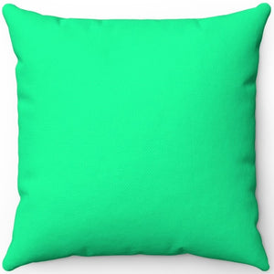 "Medium Spring Green 16"" 18"" Or 20"" Square Throw Pillow Cover"