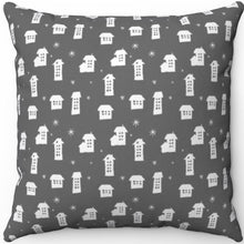"Load image into Gallery viewer, Grey Minimalist Pattern #Six 16"" 18"" Or 20"" Square Throw Pillow Cover"
