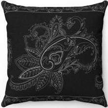 "Load image into Gallery viewer, Ornate Flower 18"" x 18"" Throw Pillow"