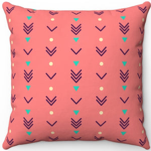 "Pastel Abstract Boho Arrows Pattern 16"" 18"" Or 20"" Square Throw Pillow Cover"