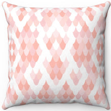 "Load image into Gallery viewer, Fish Scales Pastel Animal Print 16"" 18"" Or 20"" Square Throw Pillow Cover"