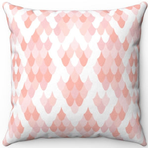 "Fish Scales Pastel Animal Print 16"" 18"" Or 20"" Square Throw Pillow Cover"