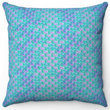 "Load image into Gallery viewer, Mermaids Tail Scale 16"" x 16"" Square Throw Pillow"