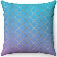 "Load image into Gallery viewer, Art Deco Ombre #One 16"" 18"" Or 20"" Square Throw Pillow Cover"