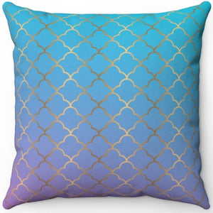 "Art Deco Ombre #One 16"" 18"" Or 20"" Square Throw Pillow Cover"