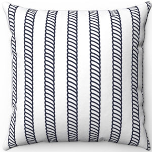 "Nautical Ropes Pattern 16"" 18"" Or 20"" Square Throw Pillow Cover"