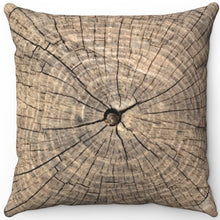 "Load image into Gallery viewer, Rings Of A Tree Trunk 16"" 18"" Or 20"" Square Throw Pillow Cover"