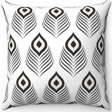 "Load image into Gallery viewer, Mudcloth Peacock Design 16"" 18"" Or 20"" Square Throw Pillow Cover"