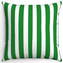 "Load image into Gallery viewer, Dark Green Texture Stripes 16"" Or 18"" Square Throw Pillow Cover"