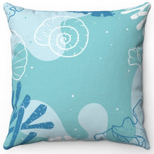 "Load image into Gallery viewer, Ocean Coral 18"" x 18"" Throw Pillow Cover"