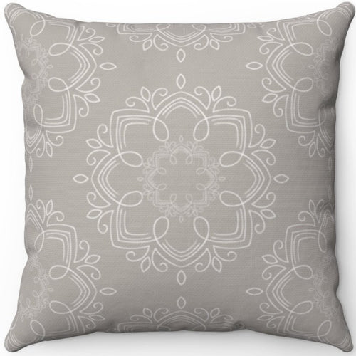 Delicate Grey & White Filigree Pattern #One 16