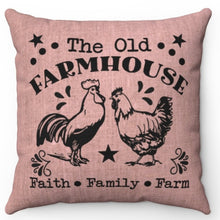 "Load image into Gallery viewer, The Old Farmhouse 20"" x 20"" Throw Pillow Cover"