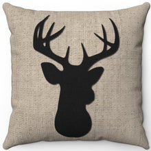 "Load image into Gallery viewer, Deer Head Silhouette #Five 16"" 18"" Or 20"" Square Throw Pillow Cover"
