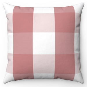 "Red & White Buffalo Plaid 18"" x 18"" Throw Pillow Cover"